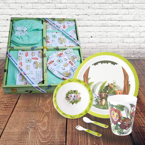 Remarkable New Born Clothing n Kids Feeding Set