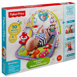 Marvelous Fisher Price 3-in-1 Musical Activity Gym
