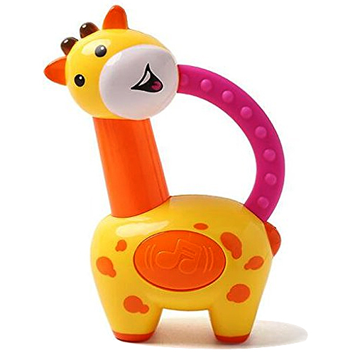 Amazing Multi-color Giraffe Clacker Rattle for Little Ones from Fisher-Price