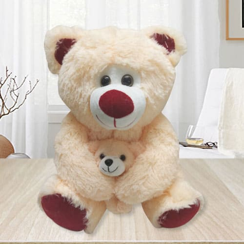 Splendid Teddy Bear with Baby