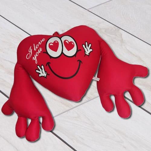 Stylish Heart Shape Cuddly Cushion