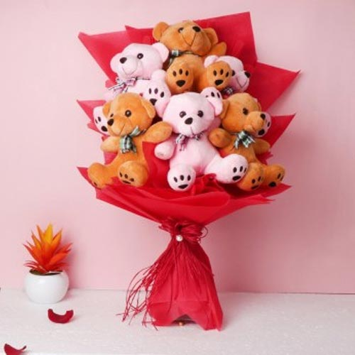 Marvelous Bouquet of Teddies