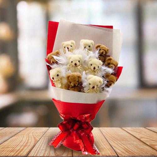 Marvelous Bouquet of Teddies