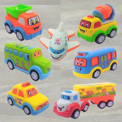 Wonderful Unbreakable Push N Go Crawling Car Set for Kids