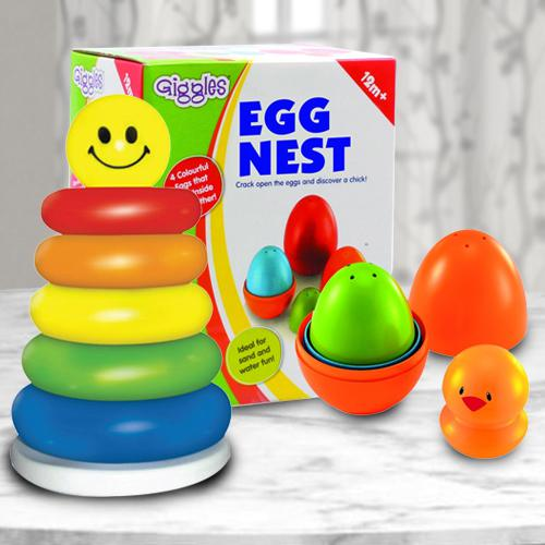 Amazing Duo of Nesting Eggs N Stacking Ring for Kids
