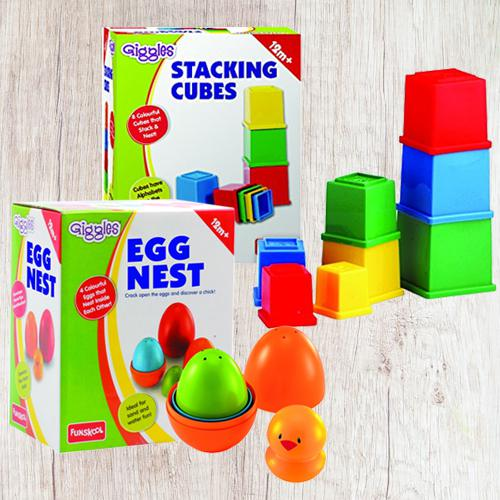 Amazing Funskool Giggles Nesting Eggs N Stacking Cubes