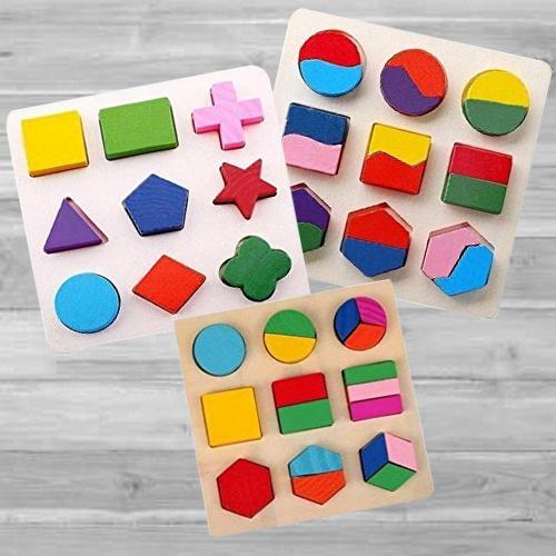 Wonderful Trio of Geometry Matching Puzzles Set