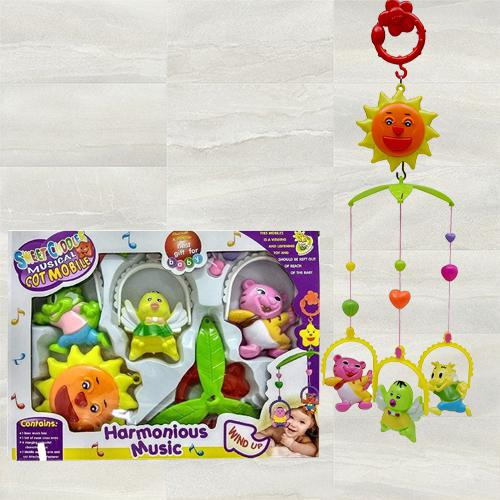 Exciting Hanging Rattle Toys With Cartoons for Toddlers