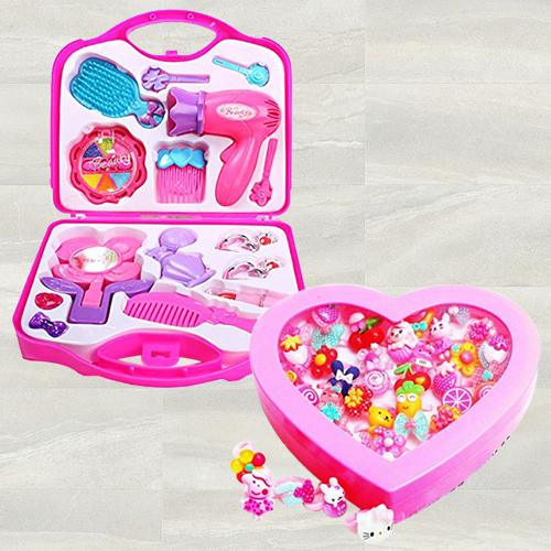 Wonderful Beauty Set N Fancy Finger Rings Box for Girls