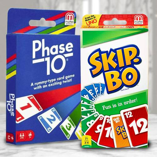 Wonderful Mattel Skip Bo N Phase 10 Card Game