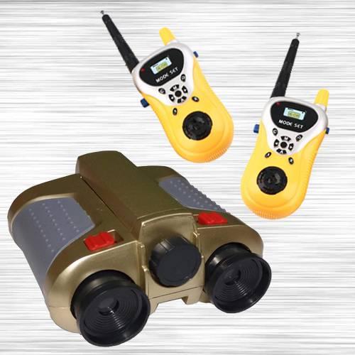 Marvelous Night Scope Binocular with Pop-Up Light N Walkie Talkie Toy