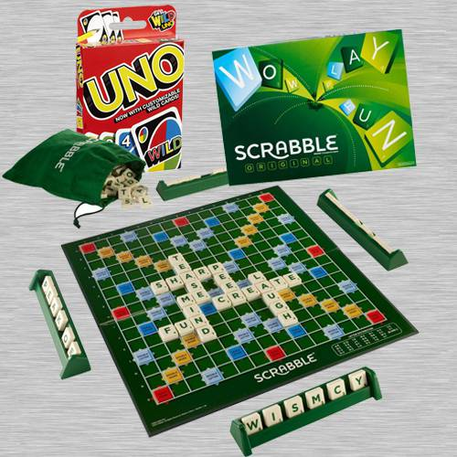 Exciting Mattel Scrabble Board Game N Mattel Uno Card Game