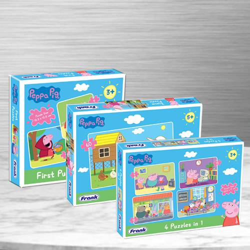 Exciting Trio Peppa Pig Puzzles Set for Kids