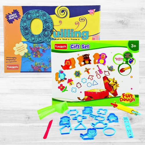 Amazing Funskool Quilling Art N Fundough Gift Set