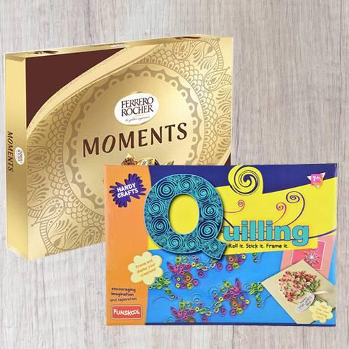 Remarkable Funskool Quilling Art N Ferrero Rocher Moments