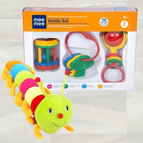 Wonderful Luvlap Fish Teether Rattles N Caterpillar Soft Toy