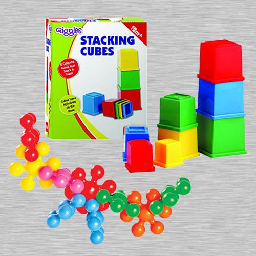 Exciting Funskool Kiddy Star Links n Giggles Stacking Cubes