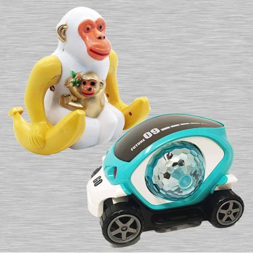 Wonderful Webby Funny Orangutan N 360 Degree Rotating Stunt Car