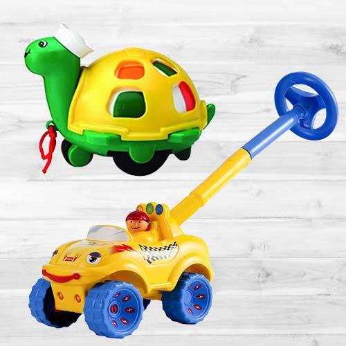 Wonderful Funskool Walk N Drive Truck N Twirlly Whirlly Turtle