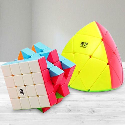 Exciting Stickerless High Speed Cube N Pyramid Puzzle