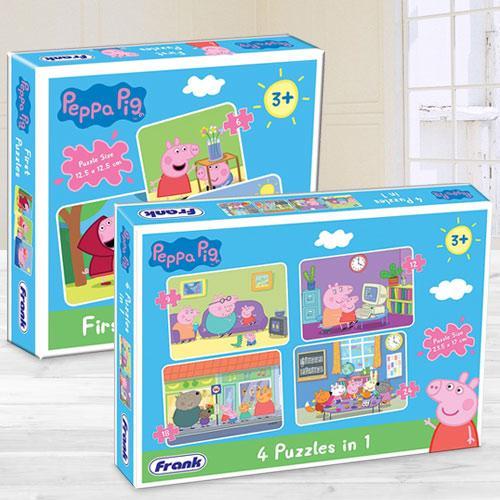 Wonderful Frank Peppa Pig Puzzle Set