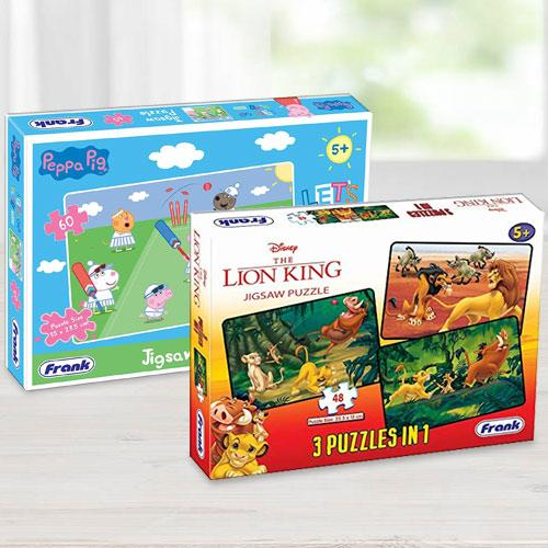 Wonderful Frank Disney The Lion King N Peppa Pig Puzzles Set