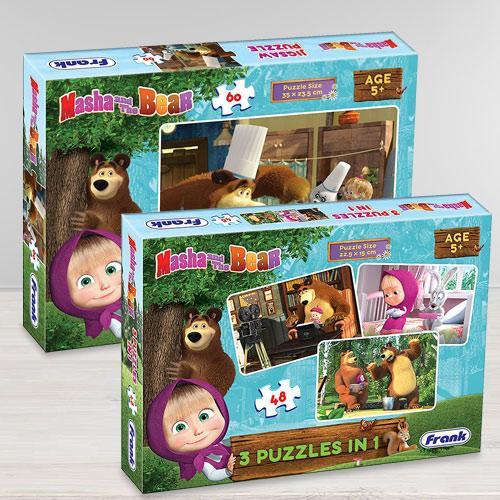 Amazing Frank Masha The Bear Puzzle Set