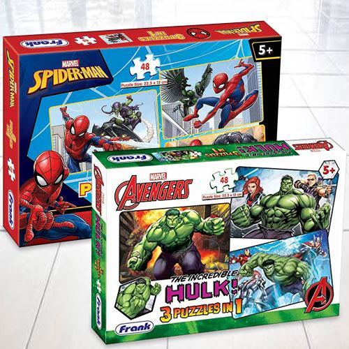 Amazing Frank Marvel Avengers Puzzle Set