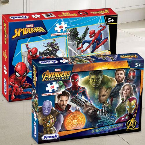 Exciting Frank Marvel Spider-Man N Avengers Infinity War Puzzle Set
