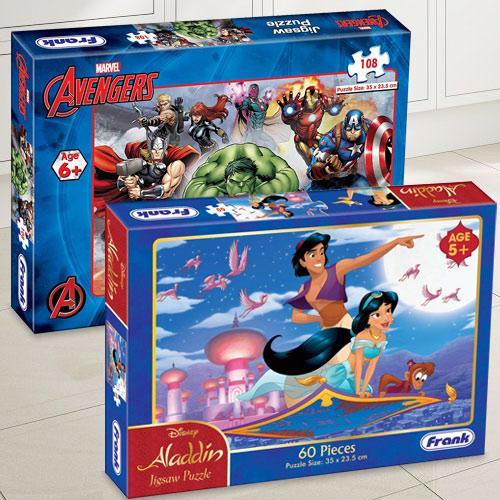 Exclusive Frank Marvel Avengers N Disney Aladdin Puzzle Set