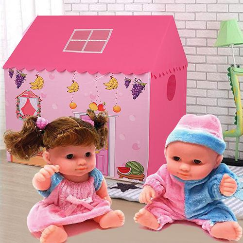 Exciting My Tent House for Girls with a Playful Doll Set