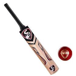 Remarkable SG Cobra Gold Kashmir Willow Cricket Bat and SG Club Cricket Ball