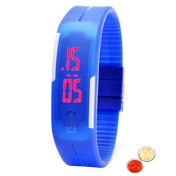 Exclusive Silicon Strap Unisex LED Digital Watch with free Roli Tilak and Chawal