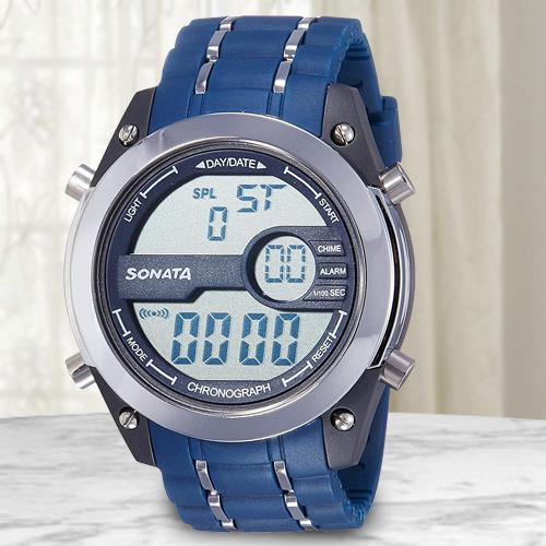 Wonderful Sonata Superfibre Digital Mens Watch