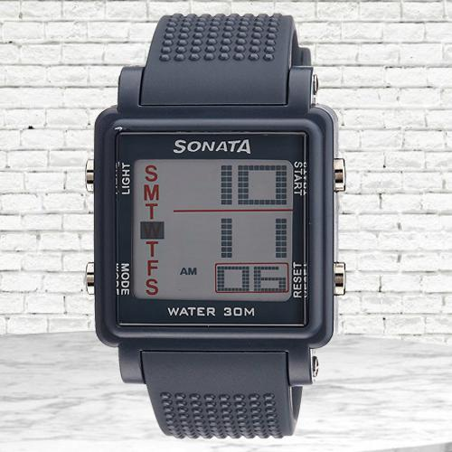 Attractive Sonata Super Fibre Digital Mens Watch