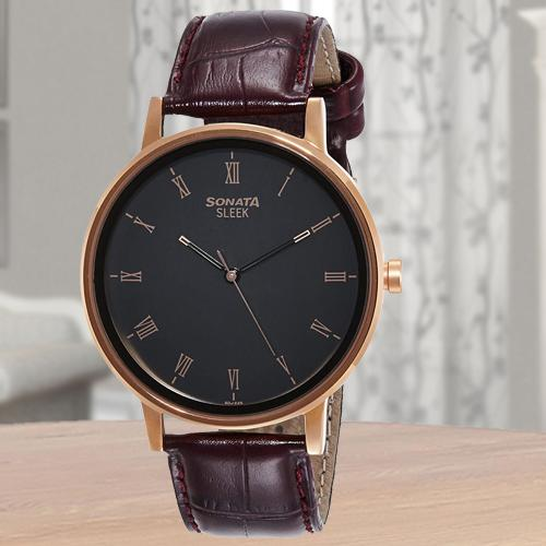 Exclusive Sonata Sleek Analog Mens Watch