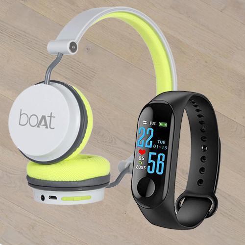Amazing Smart Watch N Boat On-Ear Headphone