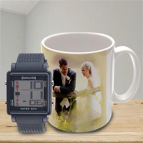 Outstanding Sonata Super Fibre Watch N Personalized Mug