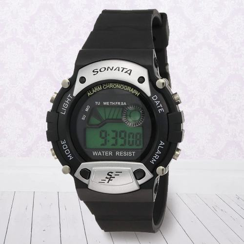 Wonderful Sonata Super Fibre Digital Mens Watch