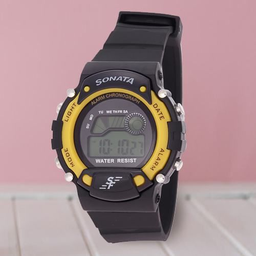 Lovely Sonata Super Fibre Digital Mens Watch