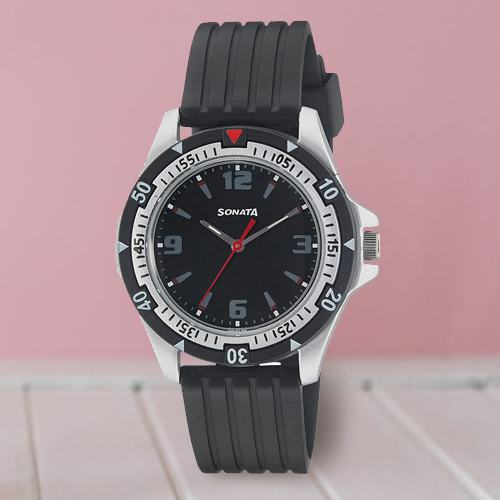 Impressive Sonata Analog Mens Watch