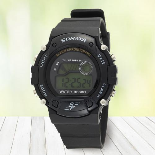 Alluring Sonata Digital Mens Watch