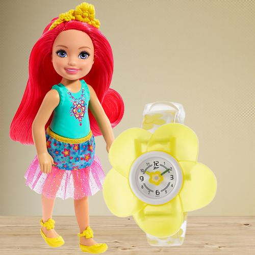 Exclusive Zoop Analog Watch N Barbie Chelsea Doll