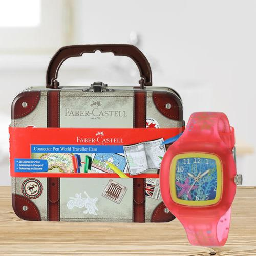 Wonderful Zoop Analogue Watch N Faber-Castell Colours Set