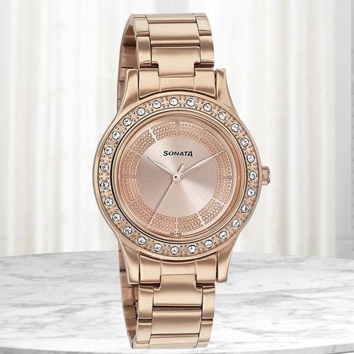 Amazing Sonata Blush It Up Analog Womens Watch