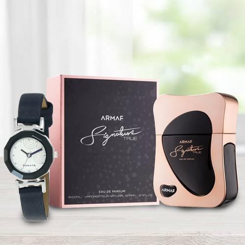 Marvelous Sonata Analog Womens Watch N Armaf Perfume