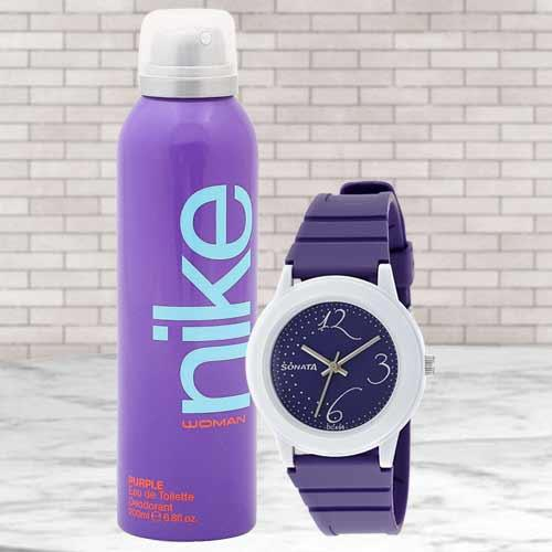 Outstanding Sonata Analog Womens Watch N Nike Deo