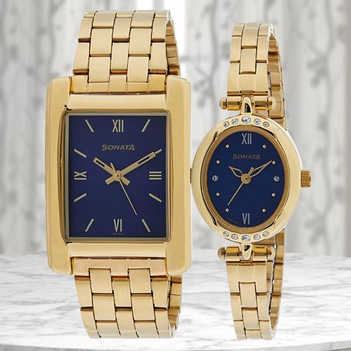 Amazing Sonata Analog Couple Watch