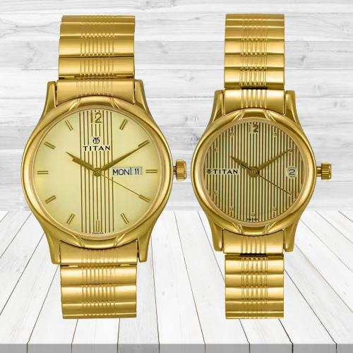 Beautiful Titan Bandhan Analog Watch for Couple