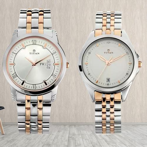 Remarkable Titan Analog Watch for Couple